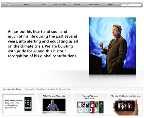 Premio Nobel Pace 2007 ad Al Gore