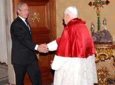 Bush e il Papa 2007